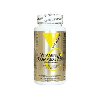 Vitall+ Vitamine C 750 + Bioflavonoïdes - 100 comprimés