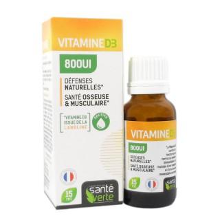 Santé verte vitamine D3 800UI 15 ml
