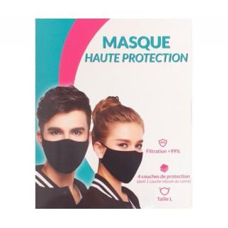Masque Cuivre Haute protection taille L noir