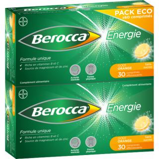 Bayer Berocca Énergie - 60 comprimés effervescents