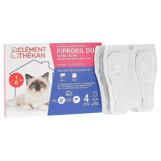 Clément thékan fiprokil duo 50 mg/60 mg chat 4 pipettes
