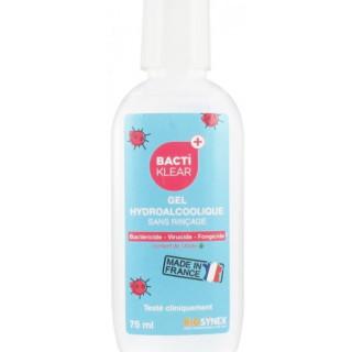 Bactiklear gel hydroalcoolique 75 ml