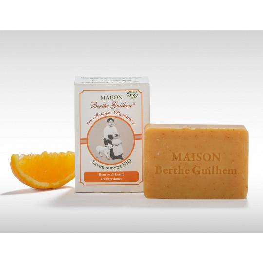 Maison Berthe Guilhem Savon surgras beurre de karité/orange Bio - 100g