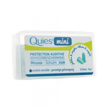 Quies protection auditive mousse mini 3 paires