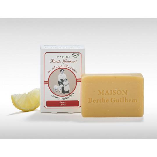 Maison Berthe Guilhem Savon surgras argan/citron Bio - 100g