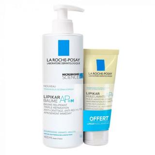 La Roche-Posay Baume Lipikar AP+M 400ml + Huile lavante Lipikar 100ml offerte