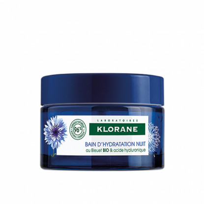 Klorane Bain d'hydratation nuit au bleuet Bio - 50ml