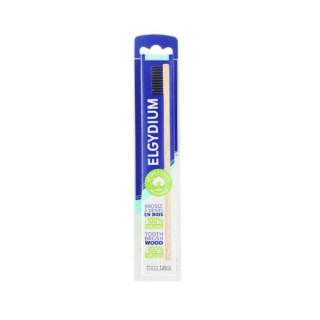 Elgydium brosse à dents en bois brins 100% naturels