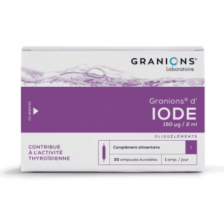 Granions d'Iode 150mg/2ml - 30 ampoules