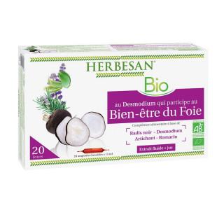 Herbesan Phyto Complexe Bien-être du foie - 20 ampoules