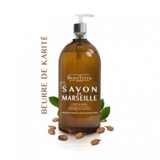 Beauterra savon de Marseille beurre de karité corps et mains 1L