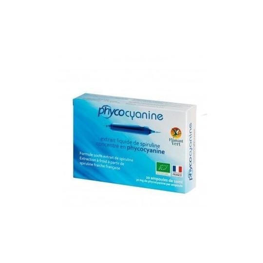 Phycocyanine extrait liquide de spiruline 20 ampoules