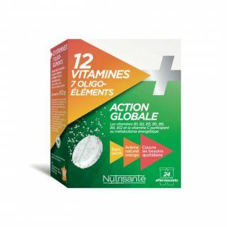 Nutrisanté 12 Vitamines et 7 Oligo-éléments 24 Comprimés