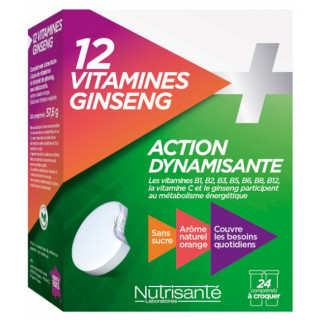 Nutrisanté 12 Vitamines + Ginseng - 24 comprimés