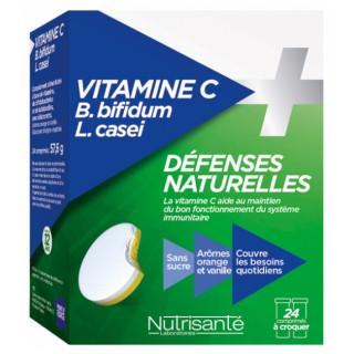 Nutrisanté Vitamine C + Probiotiques - 24 comprimés