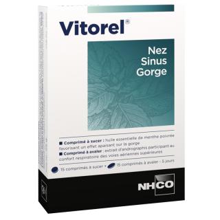NHCO Vitorel nez sinus gorge - 2 x 15 comprimés