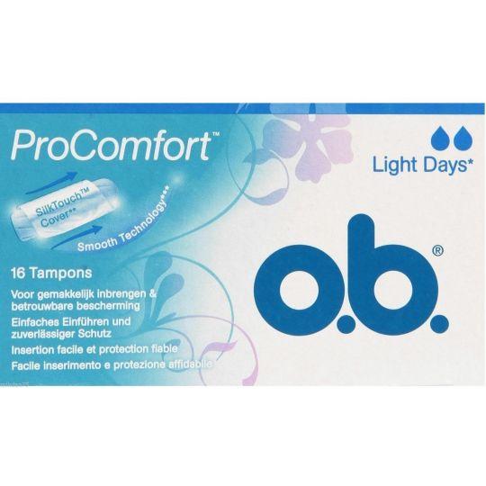 OB TAMPON (pads) PER LIGHT   16