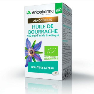 Arkogélules Huile de Bourrache Bio - 180 capsules