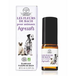 Elixirs & Co Les Fleurs de Bach pour animaux agressifs Bio - 10ml