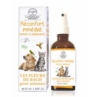 Elixirs & Co Spray d'ambiance Réconfort immédiat pour animaux Bio - 50ml