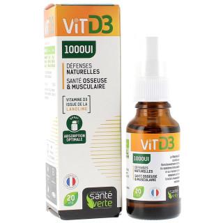 Santé Verte Vitamine D3 1000UI - 20ml