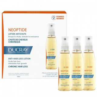Ducray Neoptide Lotion antichute femme cure 3 mois + Shampoing Anaphase 100ml Offert