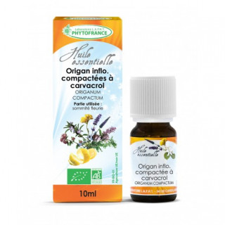 Phytofrance Huile essentielle Origan inflo. compactées a carvacrol Bio - 10ml