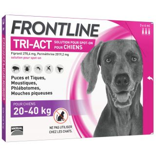 Frontline TRI-ACT Dog 20-40 kg 3 pipettes