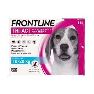 Frontline TRI-ACT Chiens 10-20 kg 3 pipettes