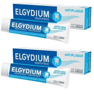 Elgydium Dentifrice Anti-plaque - Lot de 2 x 75ml