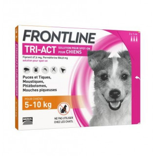 Frontline TRI-ACT Dog 5-10 kg 3 pipettes