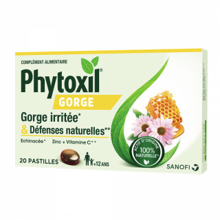 Sanofi Phytoxil Gorge Pastilles gorge irritée - 20 pastilles