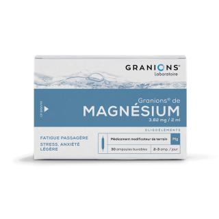 Granions de Magnésium - 30 ampoules
