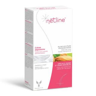 Netline Crème dépilatoire spéciale visage et zone sensibles - 75ml