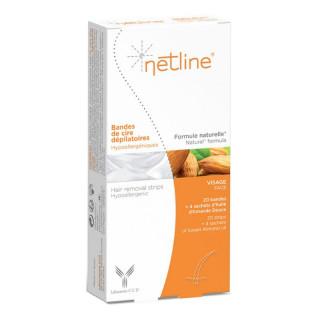 Netline Bande dépilatoire visage - 20 unités