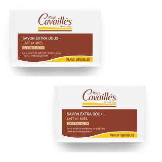 Rogé Cavaillès Savon surgras lait et miel - 2 x 250g