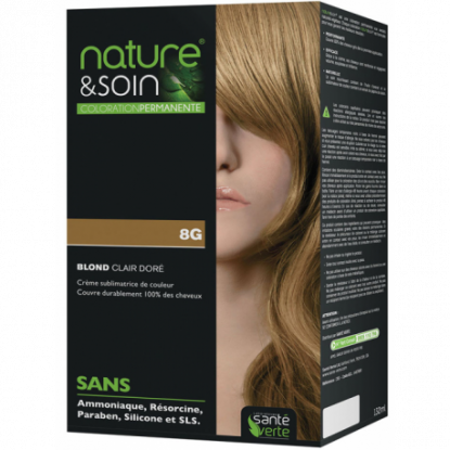 Natur&Soins coloration 8G Blond clair doré