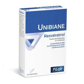 Pileje Unibiane Resvératrol - 30 comprimés