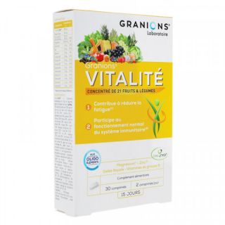 Granions vitalité 30 comprimés