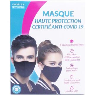 Pharma Nature Masque au cuivre FFP2 réutilisable et lavable 60 fois - Noir - Taille M