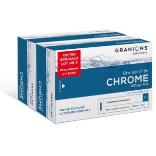Granions Chrome Lot 2 x 30 ampoules
