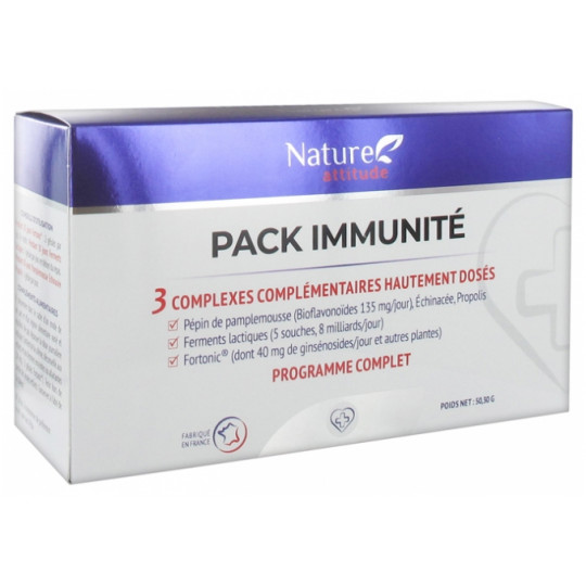 Nature Attitude Pack Immunité - 3 complexes complémentaires