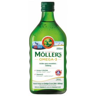 Möller's Omega-3 Huile de foie de morue sans arôme - 250ml