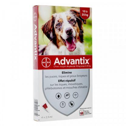 Advantix Dog 10/25 kg, 4 pipettes