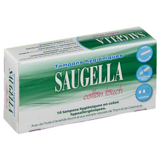 Saugella Cotton Touch - 16 tampons hygiéniques Mini