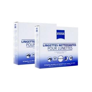 Zeiss Lingettes nettoyantes pour lunettes - Lot de 2