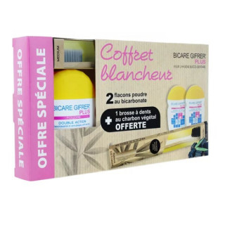Gifrer Bicare Plus Coffret blancheur - 2 flacons de 60g + 1 brosse à dents Offerte