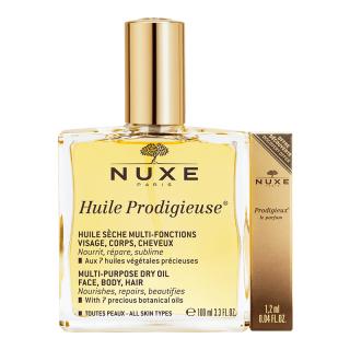 Nuxe Huile Prodigieuse 100ml + Parfum prodigieux 1.2ml Offert