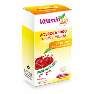 Ineldea Vitamin'22 Acérola 1000 - 24 comprimés à croquer