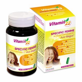 Ineldea Vitamin'22 Specific Femme - 60 gélules